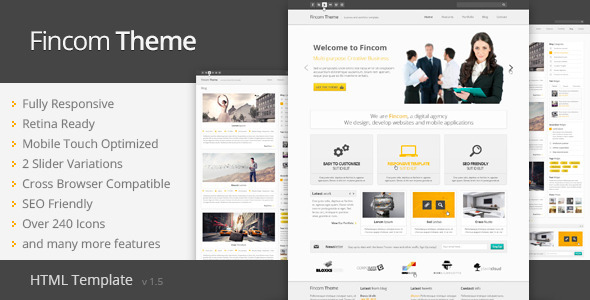 Fincom - Responsive HTML Template 