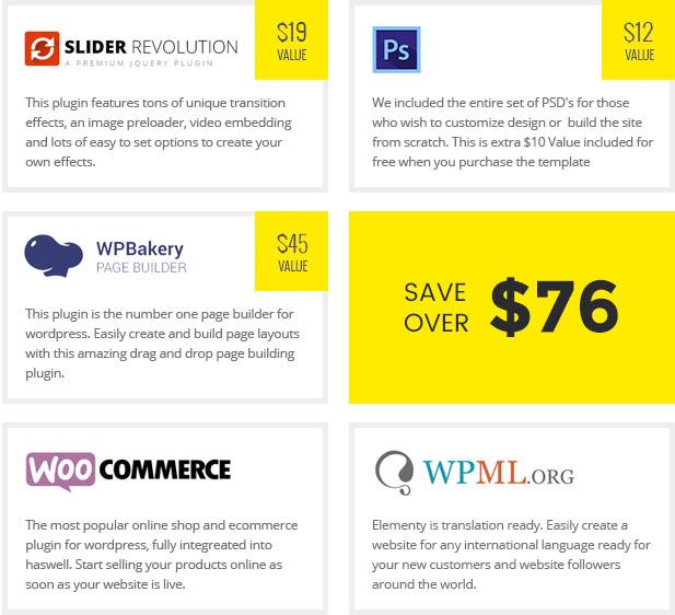 Elementy - Multipurpose One & Multi Page WordPress Theme - 4