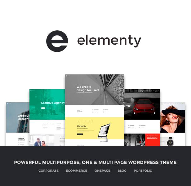 Elementy - Multipurpose One & Multi Page WordPress Theme - 1
